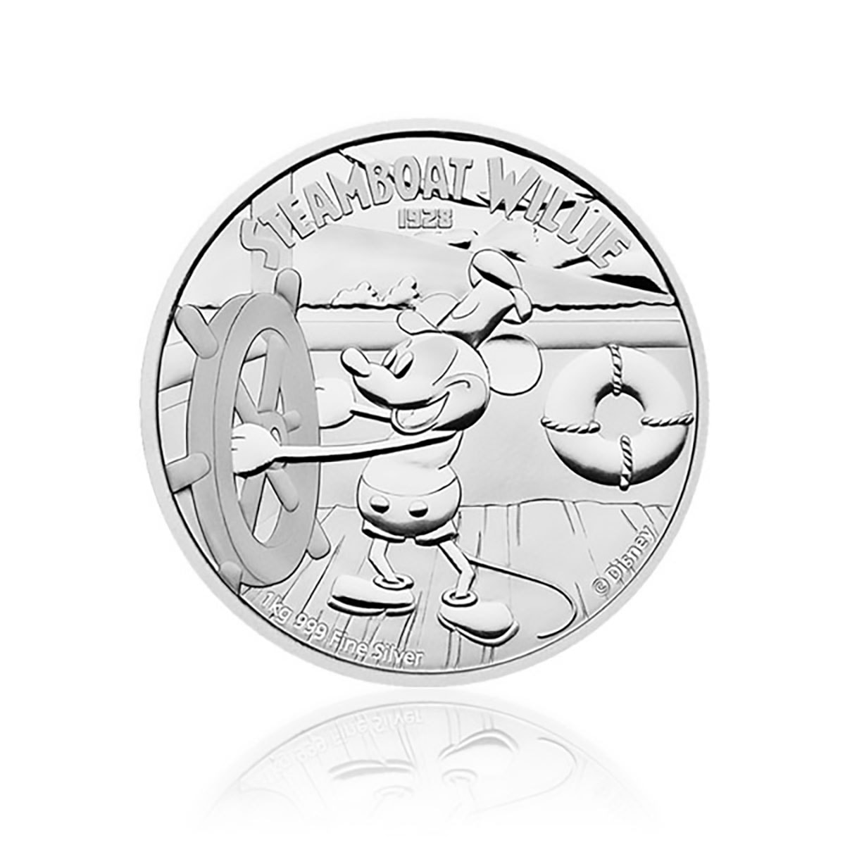 1kg Silber Disney Steamboat Willie PP 2015