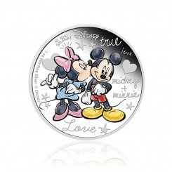 1 Unze Silber Disney Mickey & Minnie in love 2015 PP Mini