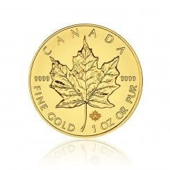 1 Unze Gold Maple Leaf 2015 Mini