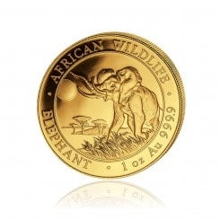 1 Unze Gold Somalia Elefant 2016 Mini