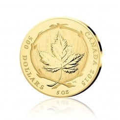 5 Unze Gold Maple Leaf 2015 PP (99 Exemplare) Mini