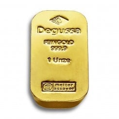 1 Unze Goldbarren Degussa (Sargform) Mini