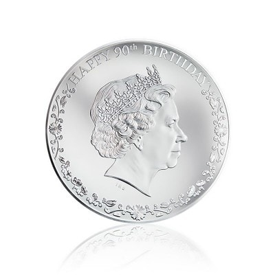 3 Unze Silber 90th Birthday Queen Elizabeth II 100 Mm