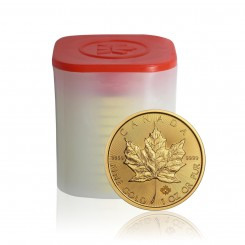 10 x 1 Unze Gold Maple Leaf 2016 Mini