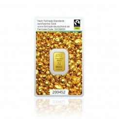 2g Goldbarren Argor Heraeus (Fairtrade) Mini