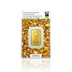 10g Goldbarren Argor Heraeus (Fairtrade) Mini