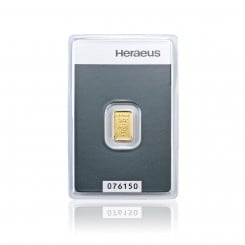 1 g Goldbarren Heraeus Mini