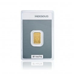 2g Kinebar® Goldbarren Heraeus Mini