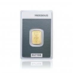 5 g Goldbarren Heraeus Mini