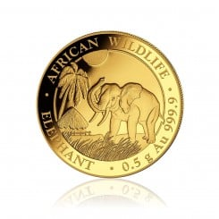 1/2g Gold Somalia Elefant 2017 Mini