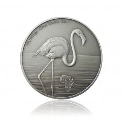 1 Unze Silbermünze Flamingo 2016 Antique Finish (Auflage: 2.000) Mini