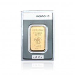 1 Unze Goldbarren Heraeus Mini