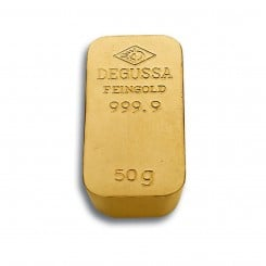 50g Goldbarren Degussa (Sargform) Mini