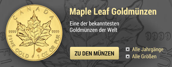 Edelmetalle Maple Leaf Gold