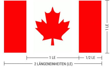 Maple Leaf Flagge - Maße